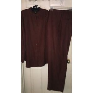 BNWT RALPH LAUREN - Pinstripe Brown Suit,